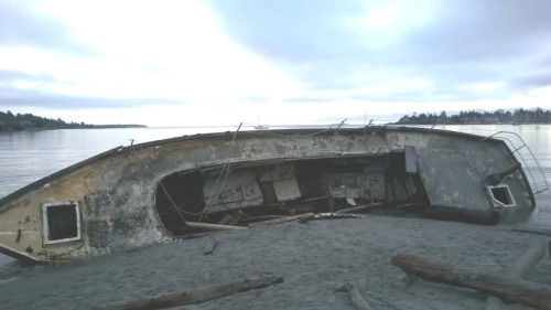 Derelict Boats Removed from Cadboro Bay Beach